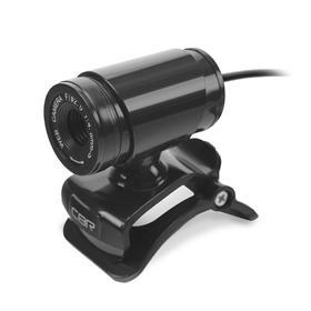 Веб-камера CBR CW 830M Black, 0.3 МП, 640х480, USB 2.0, микрофон, чёрная