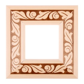 Рама для зеркал и картин, дерево, 10 х 10 х 5.0 см, липа, «Лепесток» Ош