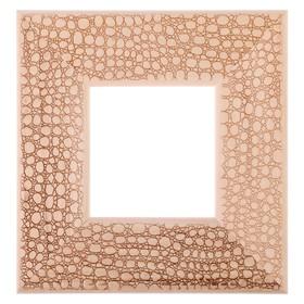 Рама для зеркал и картин, дерево, 10 х 10 х 5.0 см, липа, «Питон» Ош