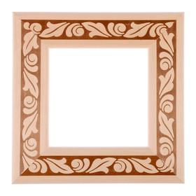 Рама для зеркал и картин, дерево, 15 х 15 х 5.0 см, липа, «Лепесток» Ош