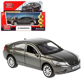 Машина металлическая Honda Accord, цвет серый, 12 см, открывающиеся двери, инерция