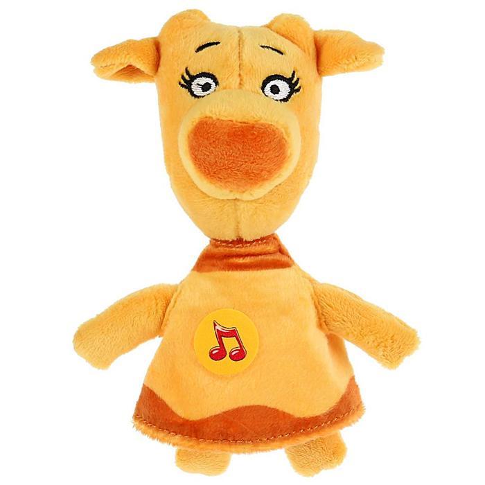 Мягкая музыкальная игрушка Корова Зо, 18 см