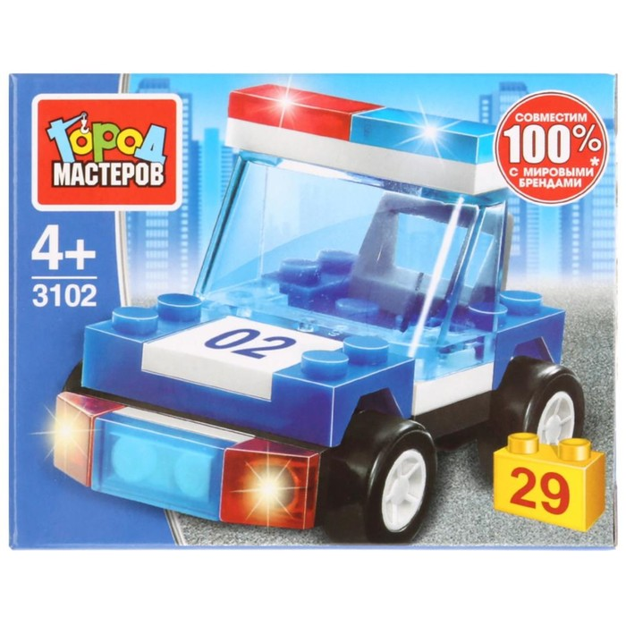 Конструктор «Полицейская машина», 29 деталей