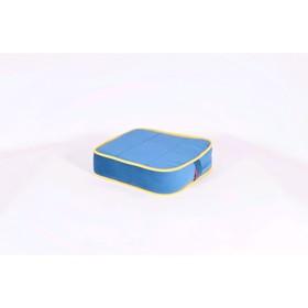 Подушка-пуф передвижной «Моби», размер 40 × 40 см, синий/жёлтый, велюр Ош