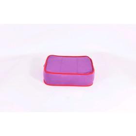 Подушка-пуф передвижной «Моби», размер 40 × 40 см, фиолетовый/красный, велюр Ош
