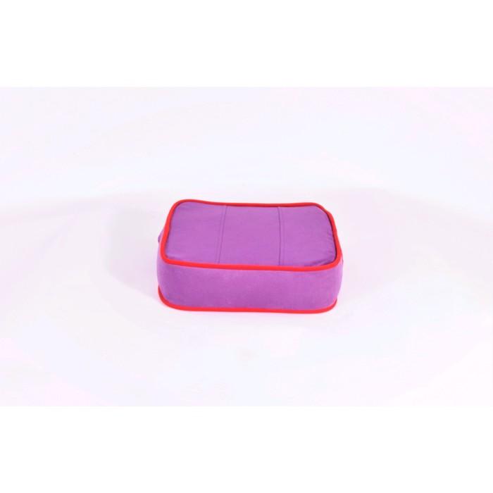 Подушка-пуф передвижной «Моби», размер 40 × 40 см, фиолетовый/красный, велюр