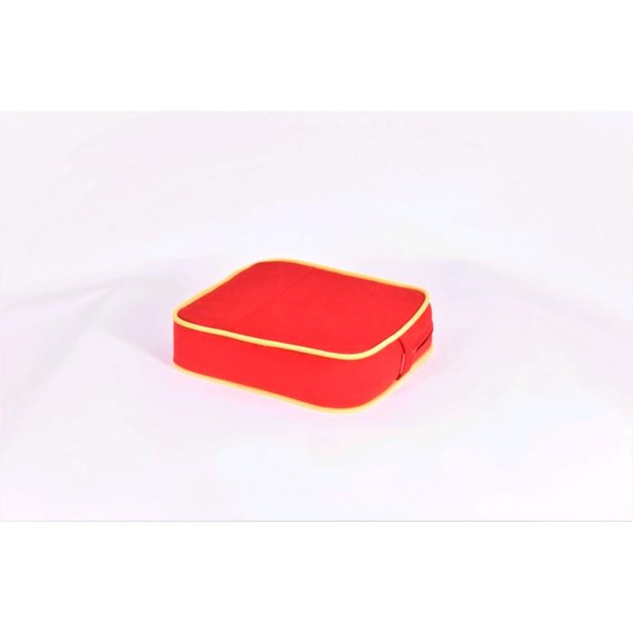 Подушка-пуф передвижной «Моби», размер 40 × 40 см, красный/жёлтый, велюр