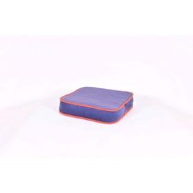 Подушка-пуф передвижной «Моби», размер 40 × 40 см, черничный/оранжевый, велюр Ош