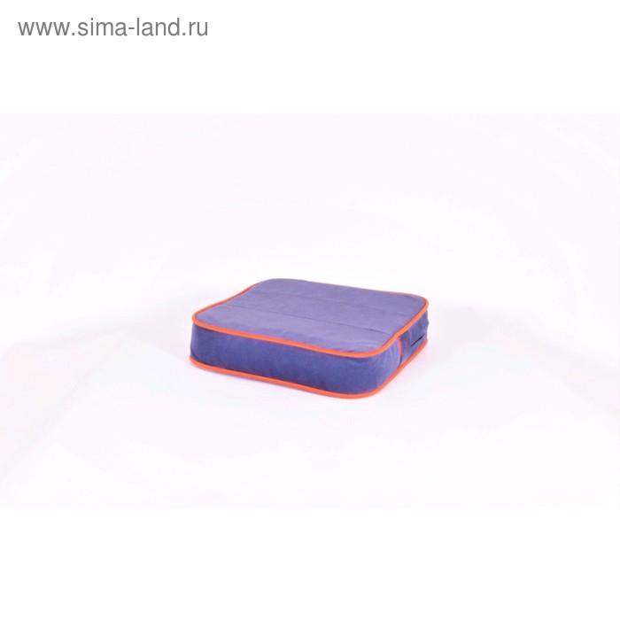 Подушка-пуф передвижной «Моби», размер 40 × 40 см, черничный/оранжевый, велюр