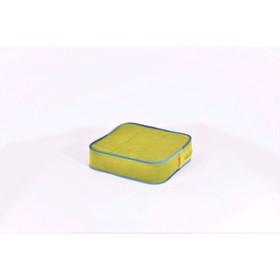 Подушка-пуф передвижной «Моби», размер 40 × 40 см, зелёный/синий, велюр Ош