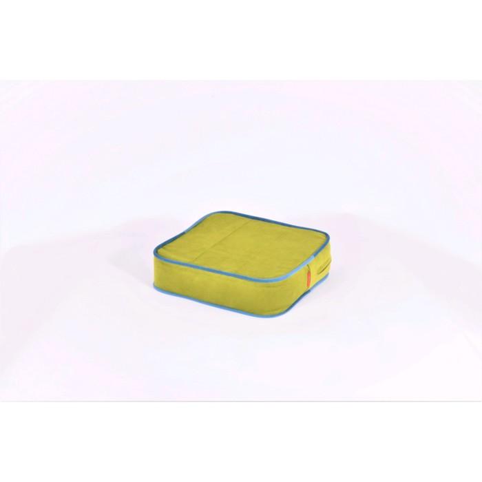 Подушка-пуф передвижной «Моби», размер 40 × 40 см, зелёный/синий, велюр