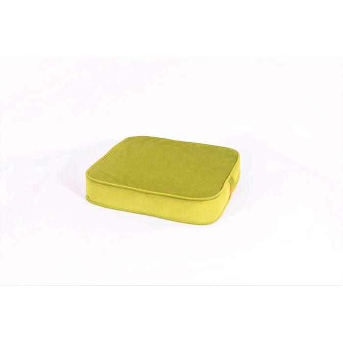 Подушка-пуф передвижной «Моби», размер 50 × 50 см, зелёный, велюр