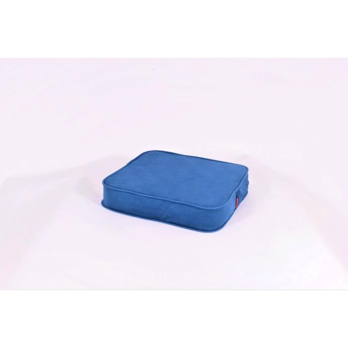 Подушка-пуф передвижной «Моби», размер 50 × 50 см, синий, велюр