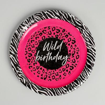 Тарелка бумажная Wild Birthday, 18 см