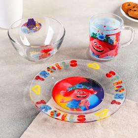 """Набор посуды 3 предмета """"Тролли 2.Поп"""""""