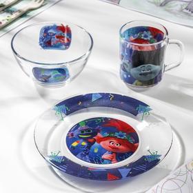 Набор посуды «Тролли 2. Техно», 3 предмета