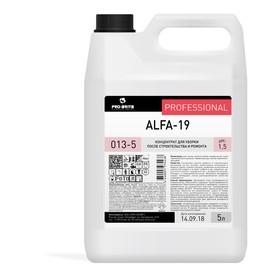 Концентрат для уборки после ремонта Alfa-19, 5л Ош