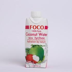 """Кокосовая вода с соком личи """"FOCO"""" 330 мл Tetra Pak"""