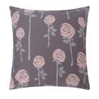 Наволочка LoveLife «Розы», цвет серый, 70х70 см