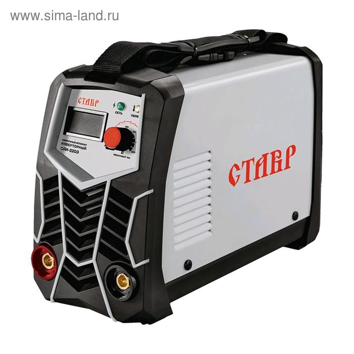 """Сварочный аппарат """"Ставр"""" ст220эсаи, 4.6 кВт, 20-220 А, d 1.6-5 мм, ПВ 80%, MMA"""