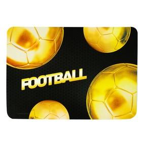 "Накладка на стол пластикиковая, А4 336 х 250 мм, 500 мкм, Calligrata, ""Футбол_золотой мяч"""