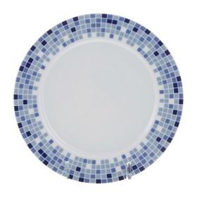 Тарелка десертная Opal, декор «Мозайка», 17 см