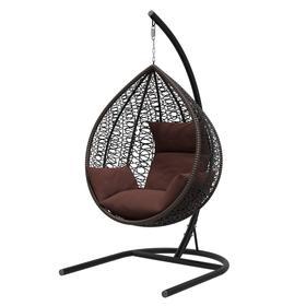 Подвесное кресло «Бароло», капля, цвет коричневый, подушка шоколад