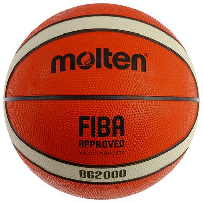 Мяч баскетбольный MOLTEN B7G2000, размер 7, 12 панелей, резина, бутиловая камера, нейлон - Фото 1