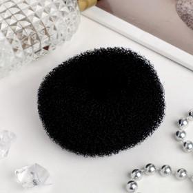 Валик-резинка для создания пучка, d=6,5 см, чёрный Ош