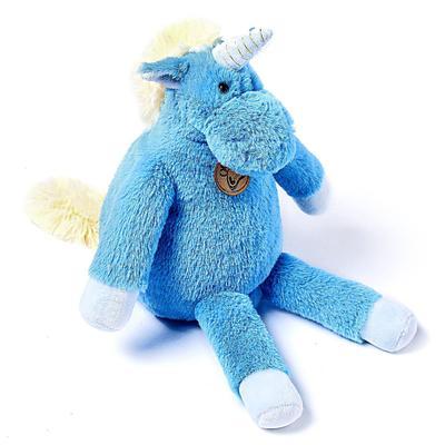 Мягкая игрушка «Единорог», 28 см, длинноногий, цвет голубой - Фото 1