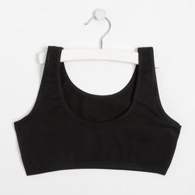 Топ для девочки, цвет чёрный, рост 140-146 см