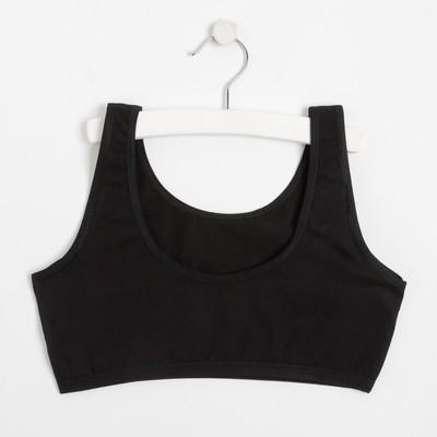 Топ для девочки, цвет чёрный, рост 140-146 см - Фото 1