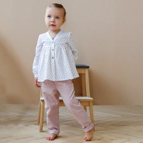 Блузка для девочки MINAKU, рост 92 см, цвет белый Ош