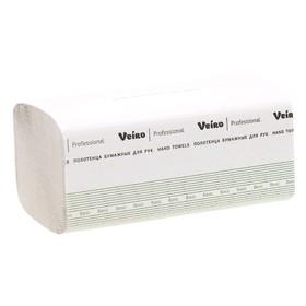 Полотенца бумажные Veiro Professional Basic V-сложение КV104, белые, 250 листов Ош