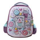 Рюкзак каркасный Hatber Ergonomic Plus 38 х 29 х 6, для девочки Sweet moments, сиреневый