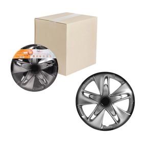 Колпаки колесные 13' 'Супер Астра +', серебристо-черный, карбон, набор 2 шт, AWCC-13-20 Ош