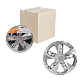 Колпаки колесные 13' 'Супер Астра', серебристый, карбон, набор 2 шт, AWCC-13-19 Ош