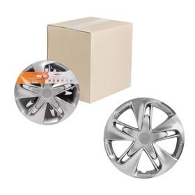 Колпаки колесные 14' 'Супер Астра', серебристый, карбон, набор 2 шт, AWCC-14-24 Ош