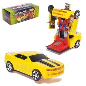 Робот «Автобот», трансформируется, световые и звуковые эффекты, работает от батареек Ош