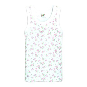 Майка для девочки, рост 122-128 см, цвет белый, розовый