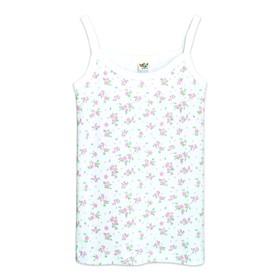 Майка для девочки, рост 110-116 см, цвет белый, розовый
