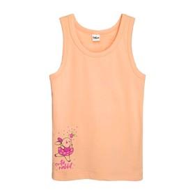 Майка для девочки, рост 110-116 см, цвет персиковый