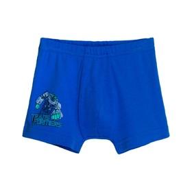 Трусы-боксеры для мальчика, рост 110-116 см, цвет синий