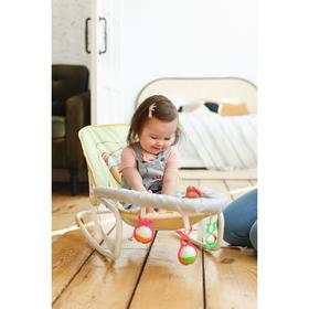 Шезлонг - качалка для новорождённых «Мишка под одеялком», игровая дуга, игрушки Ош