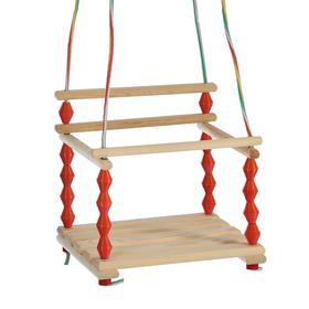 Качели детские подвесные, деревянные, сиденье 33×27см Ош