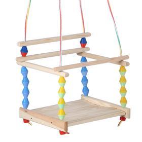 """Качели детские подвесные """"Волна"""", деревянные, сиденье 33×27см"""