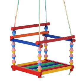 Качели детские подвесные, пластмассовые, сиденье 33×27см, с металлическим кольцом Ош