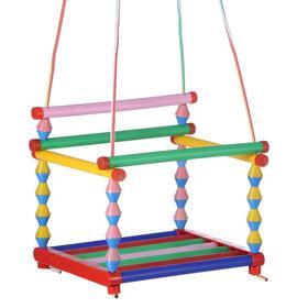 Качели детские подвесные, пластмассовые, сиденье 33×27см, с пластмассовым кольцом Ош