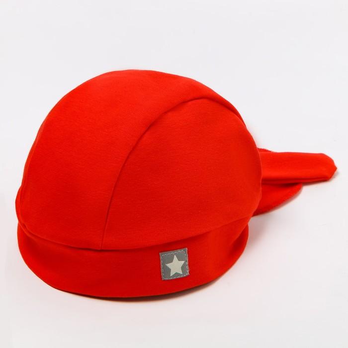 Бандана для мальчика, цвет красный/звезда, размер 46-50