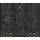 Варочная поверхность Gorenje GW6D41CLB, газовая, 4 конфорки, 60 см, WOK, чёрная